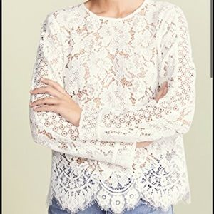 Club Monaco white lace top